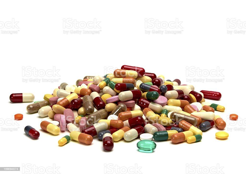 Heap of pills royalty-free stock photo