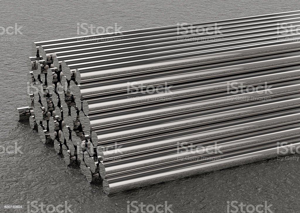 heap of pipes - foto de acervo