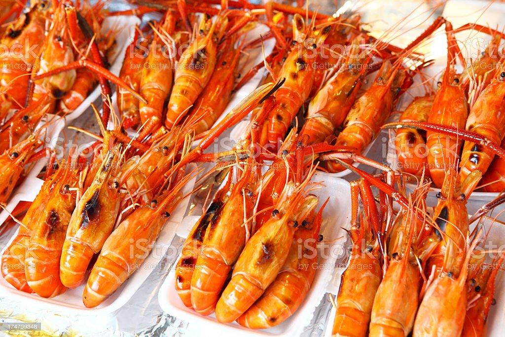 heap of prawns royalty-free stock photo