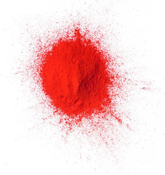 Tas de poudre de couleur rouge - Photo