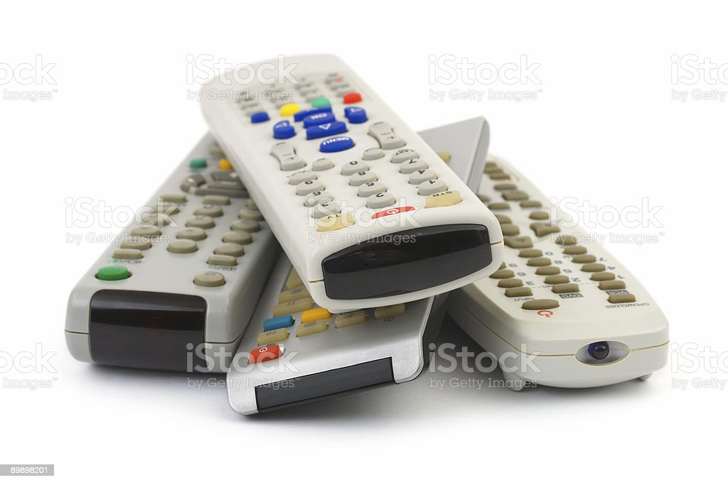 Heap of remote control royalty-free stock photo