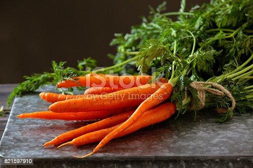 istock Heap of ripe carrots. 821597910