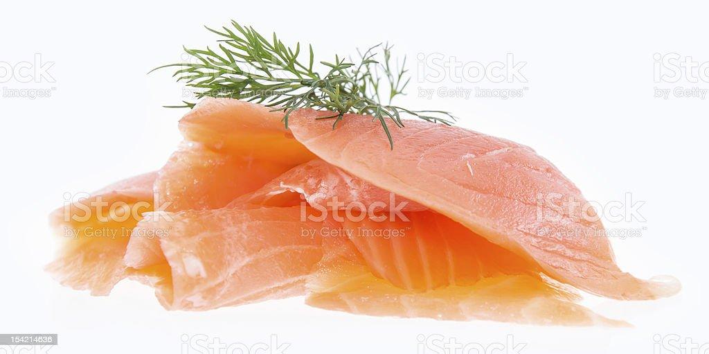 Heap of Salmon on white stock photo