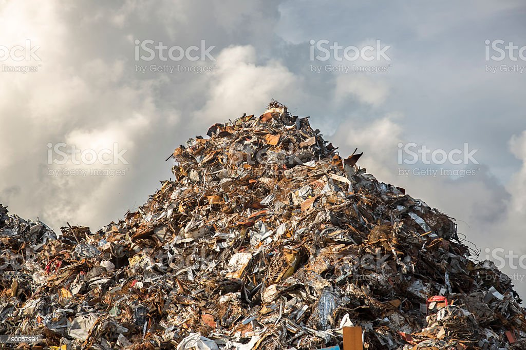 heap of scrap iron stock photo