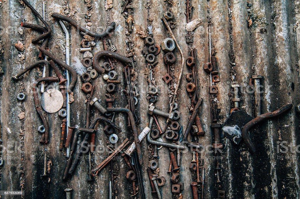 Heap of screws stock photo