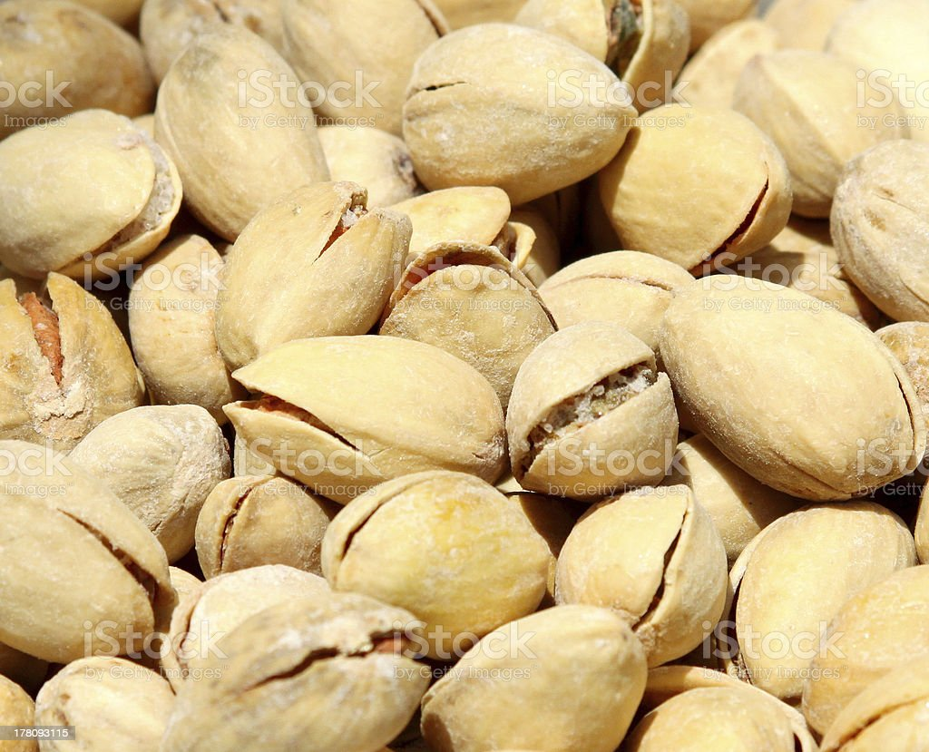 Heap of shelled pistachios royalty-free stock photo