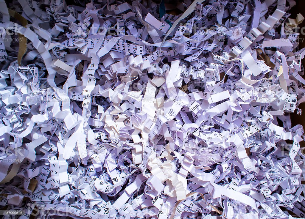 Heap Of Shredded Papers stock photo