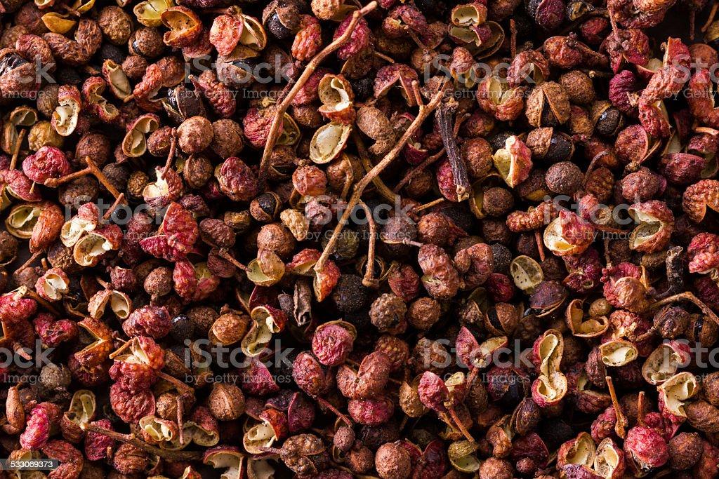 heap of sichuan, japanese pepper stock photo