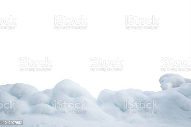 Photo of Heap Of Snow On White Background