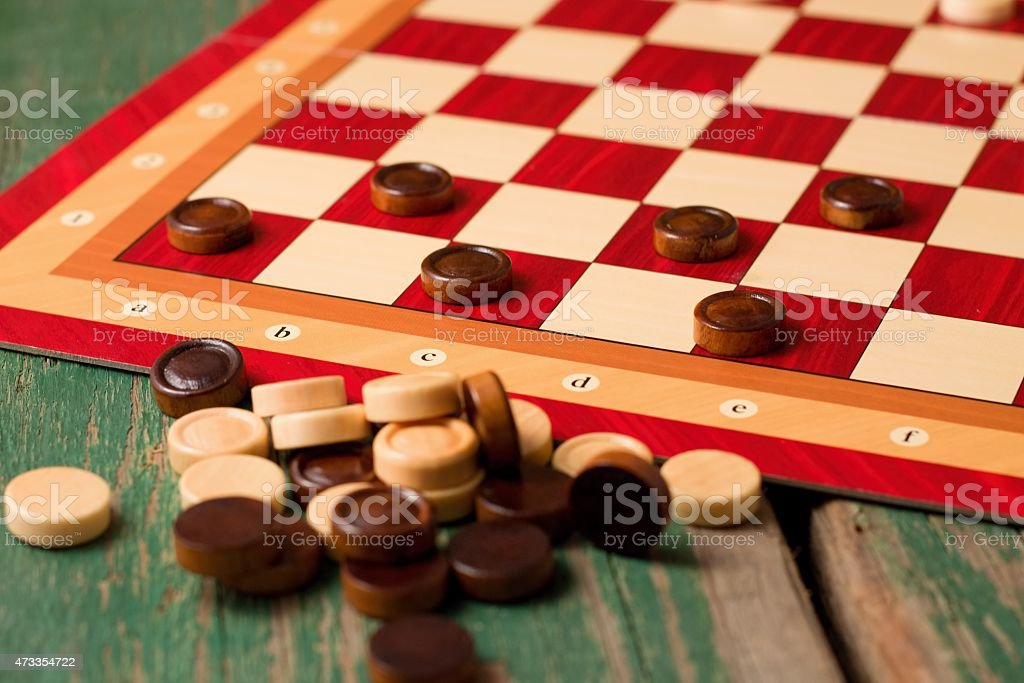 Heap of stones for Game of checkers stock photo