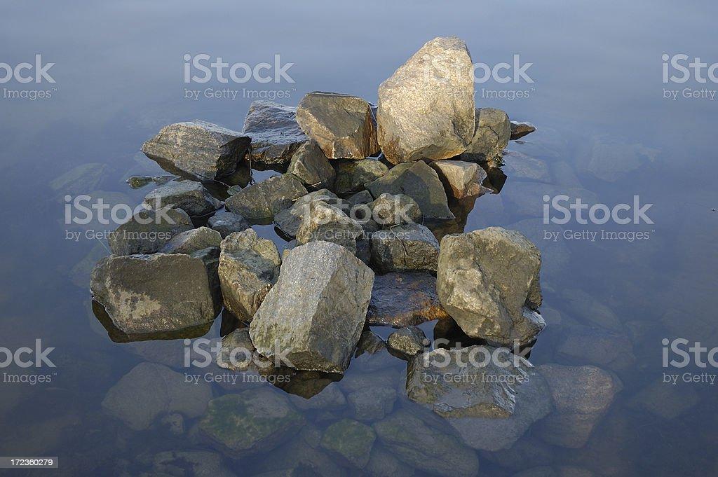 Heap of stones stock photo