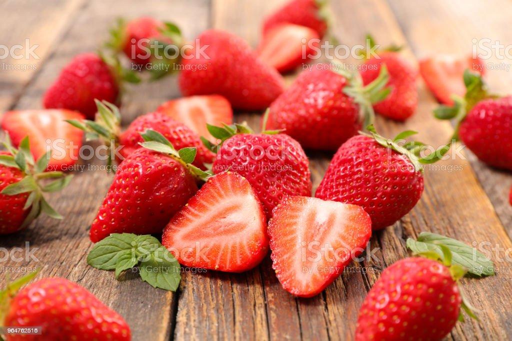heap of strawberry royalty-free stock photo