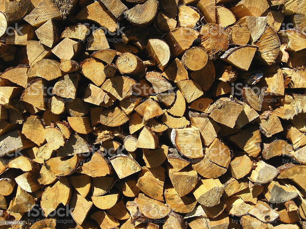 Heap of the prepared fire wood royalty-free stock photo