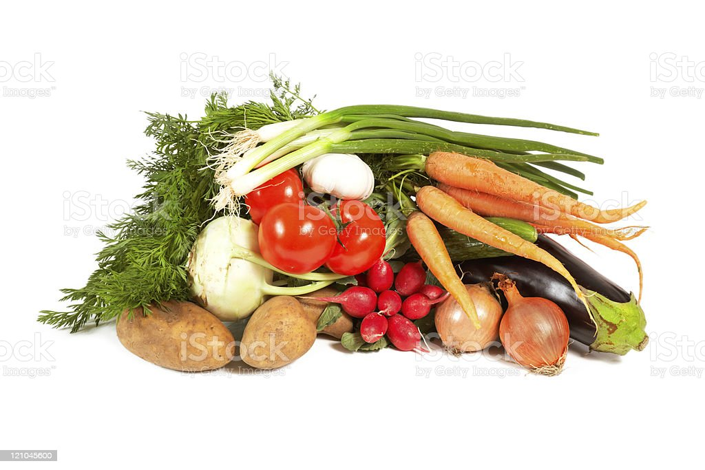 heap of vegetables isolated on white background royalty-free stock photo
