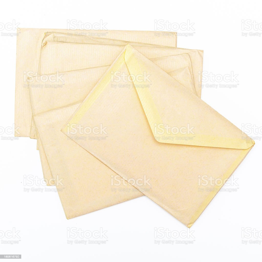 Heap of vintage envelopes royalty-free stock photo