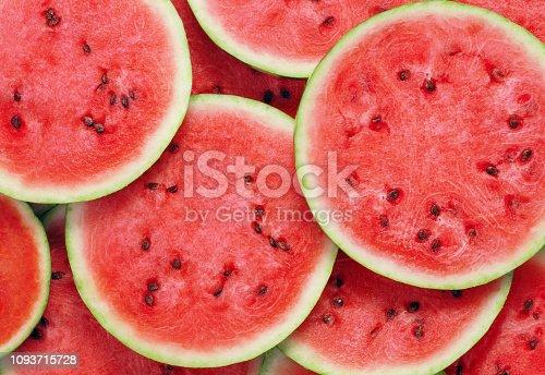 heap of ripe watermelon slices