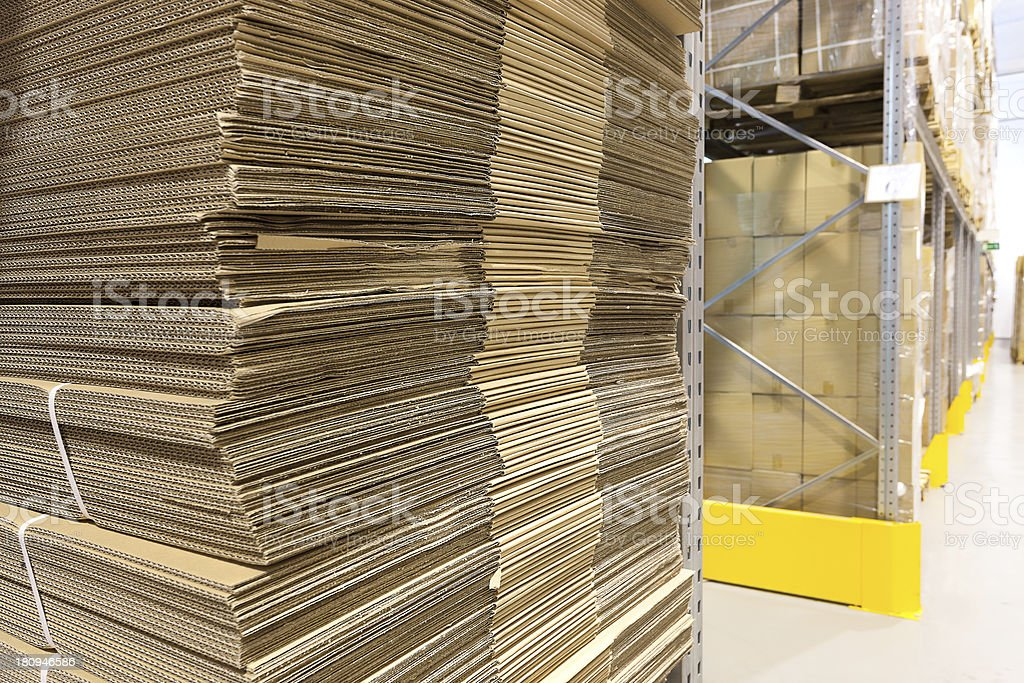 Heap of wavy corrugated royalty-free stock photo