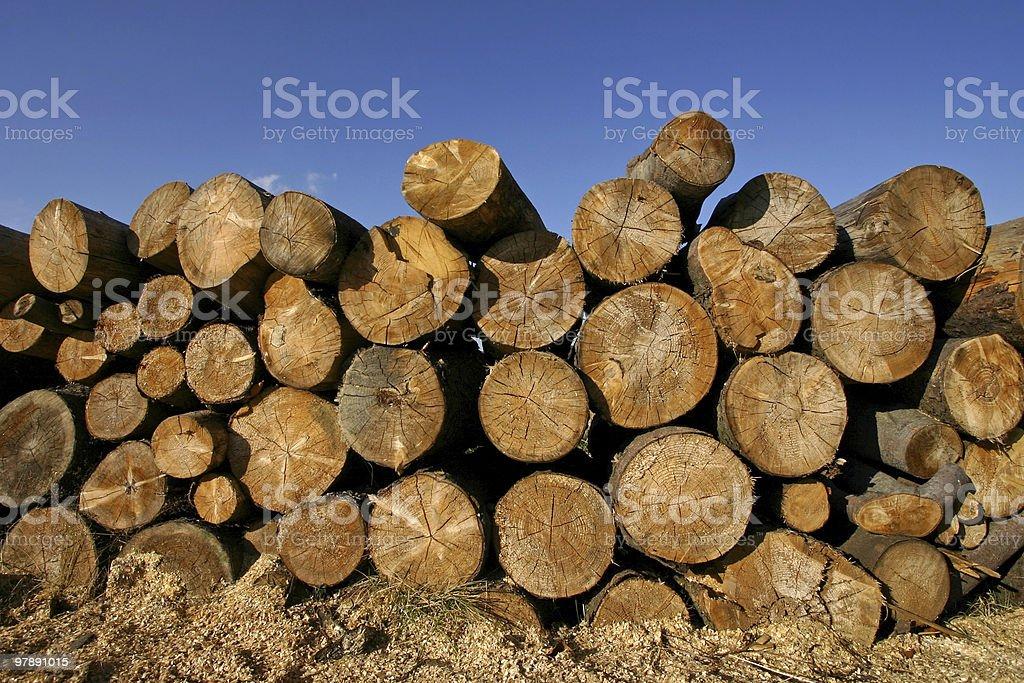 heap of wood royalty-free stock photo