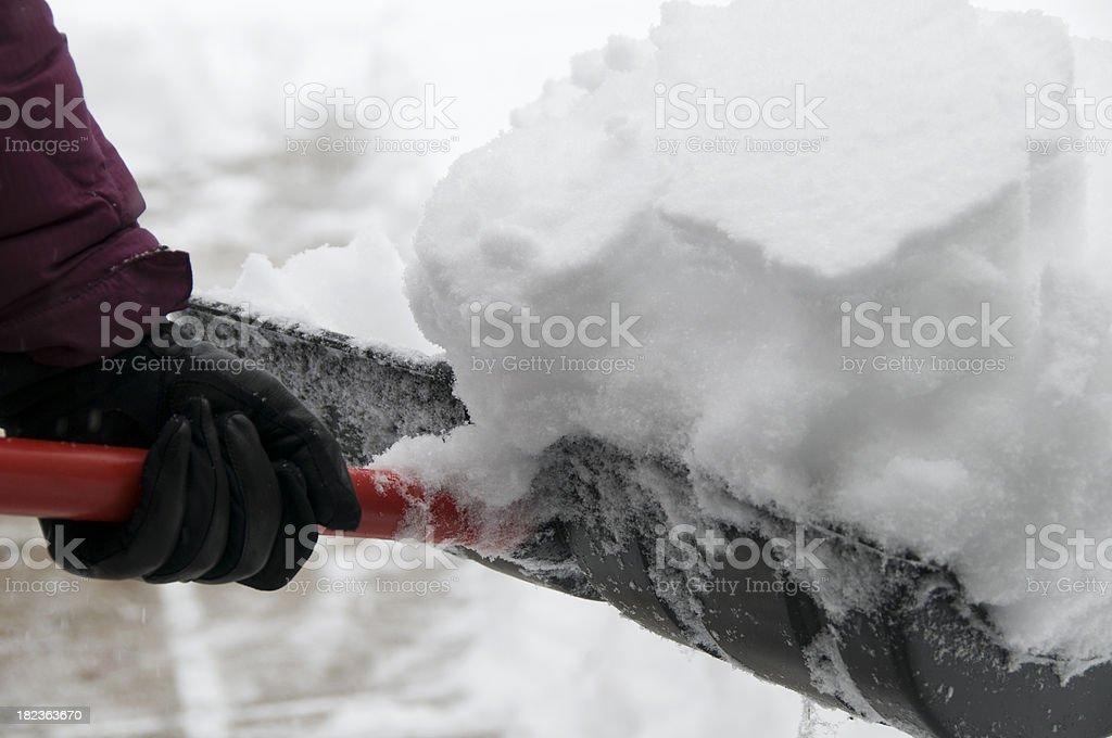 Heaping Snow Shovel royalty-free stock photo