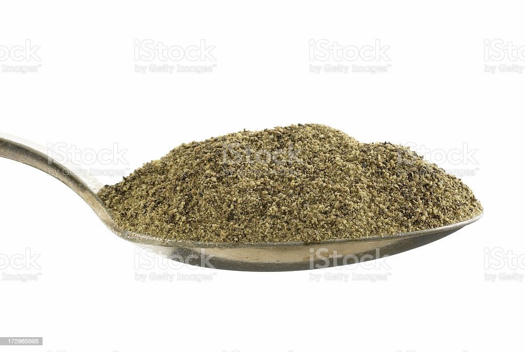 heaping spoonful of black pepper stock photo more pictures of