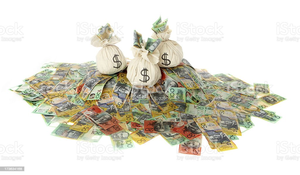 Heaps of Aussie Cash stock photo