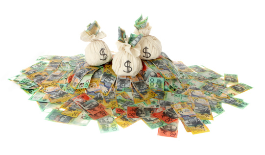 Heaps Of Aussie Cash Stock Photo - Download Image Now