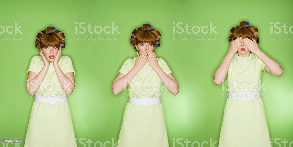 Hear Speak See No Evil  Adult Stock Photo