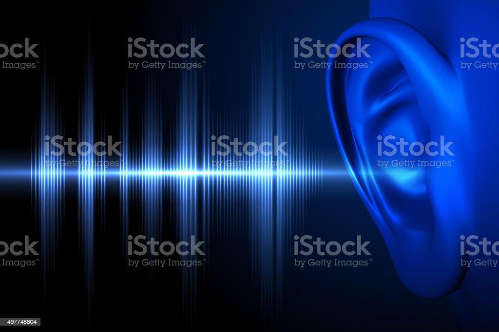 Hear the sound wave - 免版稅2015年圖庫照片