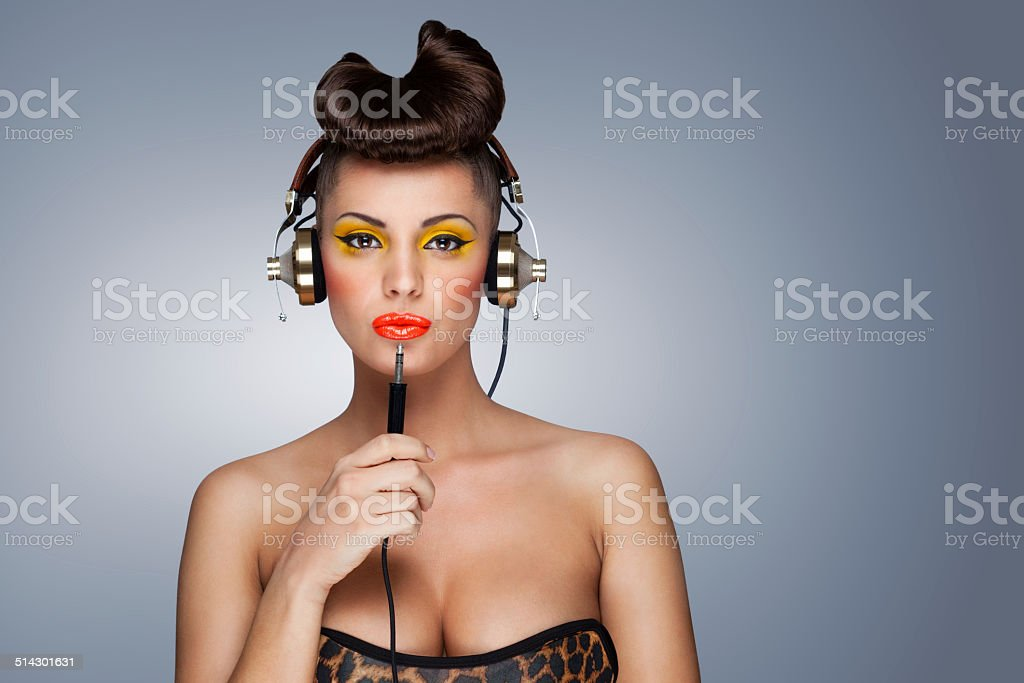 Hear yourself attentionally. stock photo
