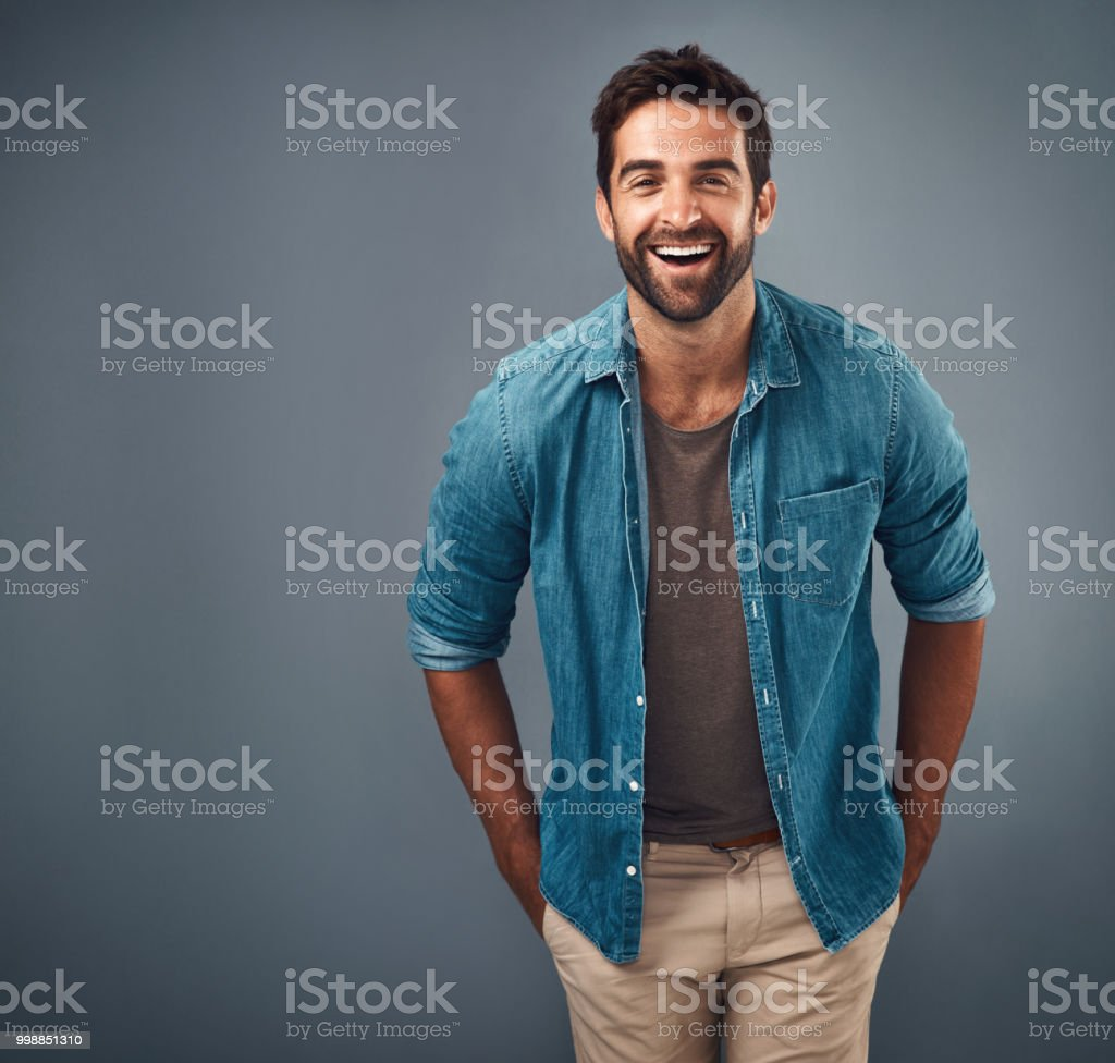 I heard the funniest joke today stock photo