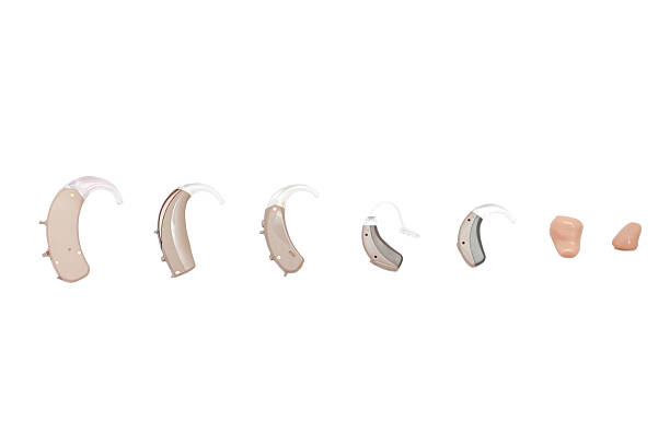 hearing aids, different kinds - hearing loss stock pictures, royalty-free photos & images