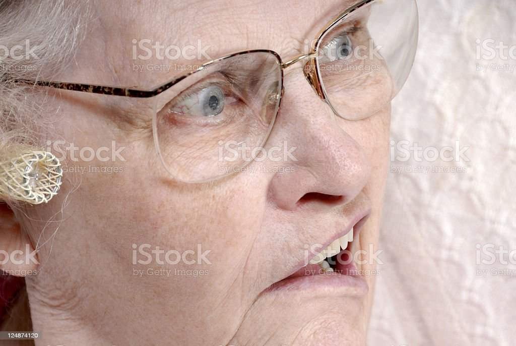 Hearing And Vision Loss In The Elderly stock photo