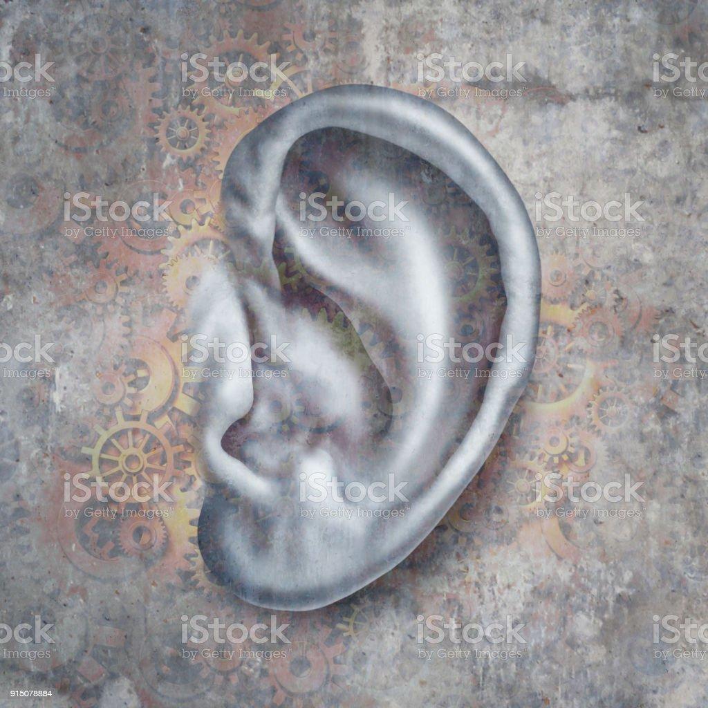 Hearing Loss stock photo