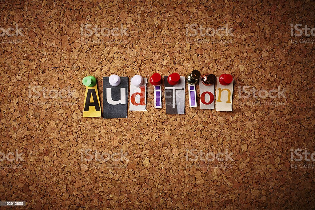 Audition stock photo