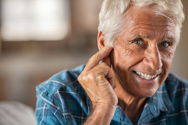 Hearing problems finally solved! stock photo