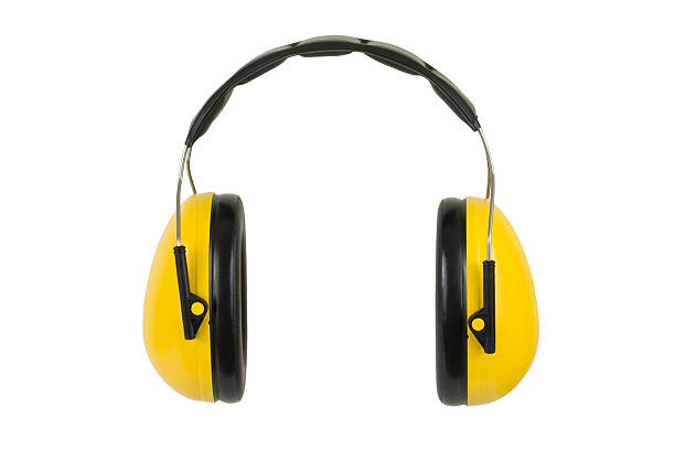 Hearing Protection Ear Muffs stock photo