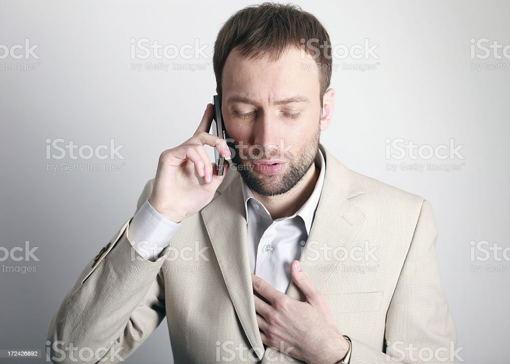 Hearing the bad news royalty-free stock photo