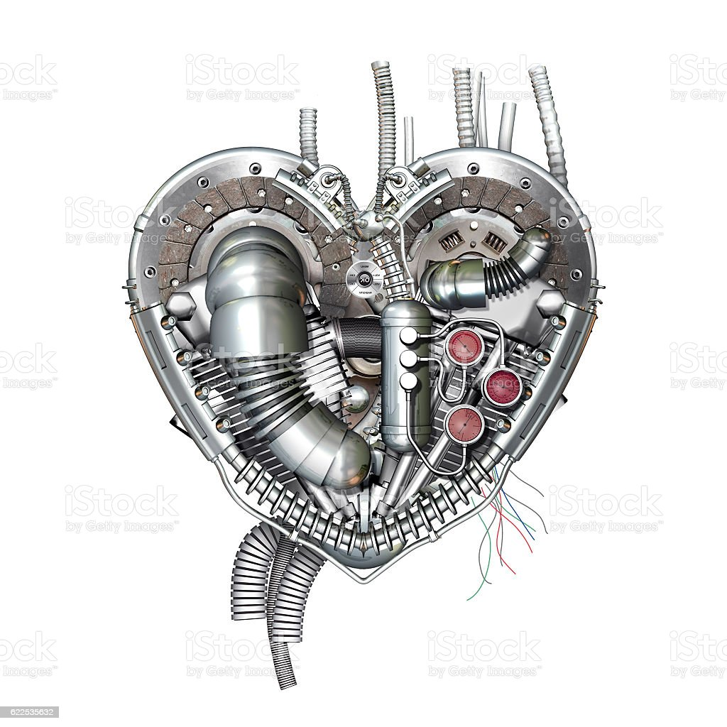 Heart, 3D illustration – Foto