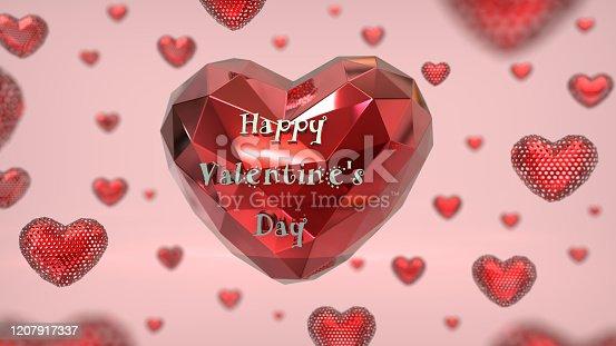 1078237178 istock photo Heart  3D polygon card. 1207917337