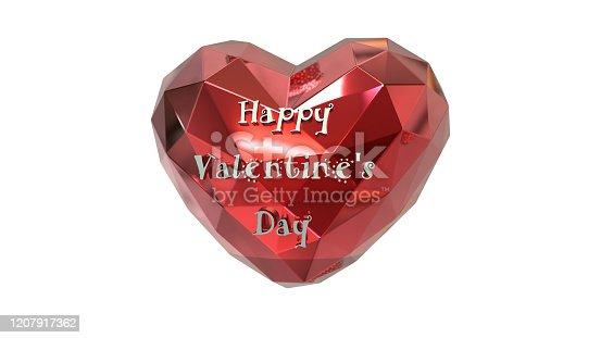 1078237178 istock photo Heart  3D polygon card. 1207917362