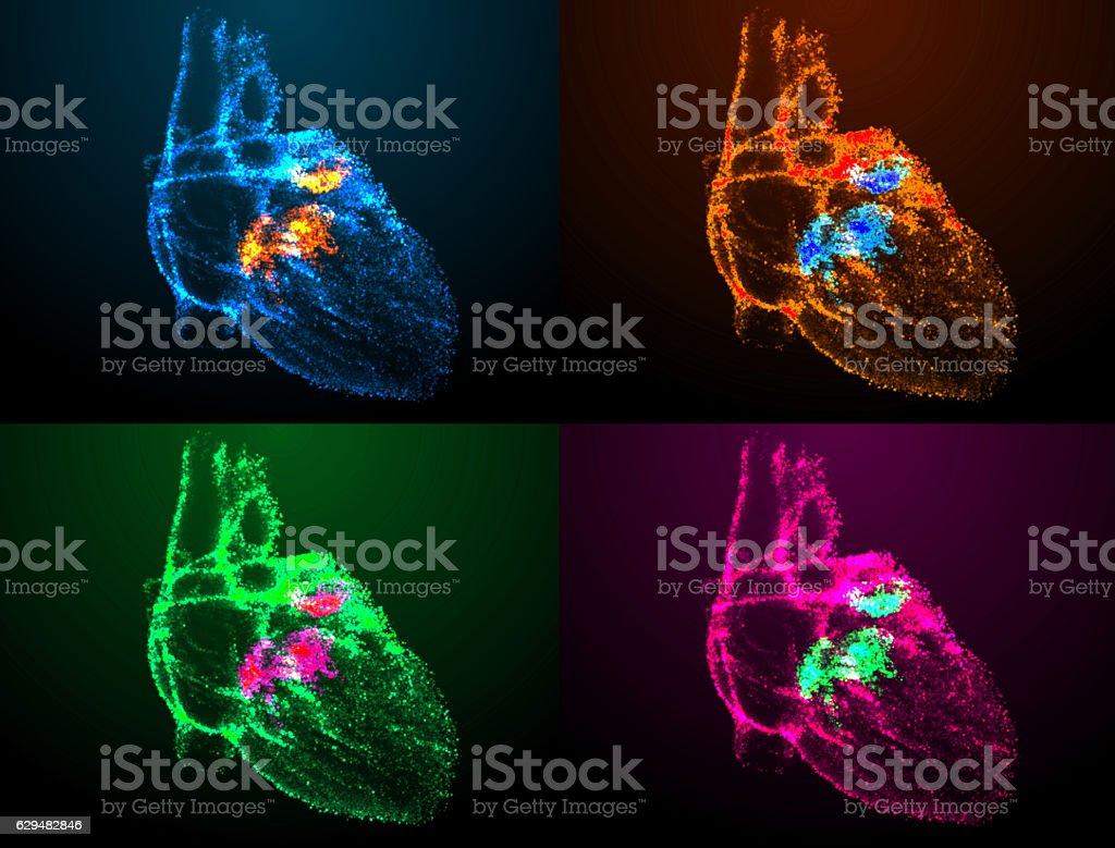 Corazón Abstracto Fondo - Fotografía de stock y más imágenes de ...