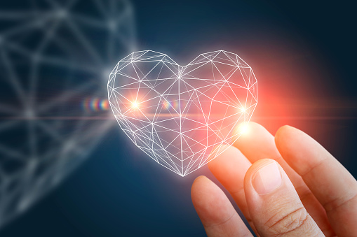 istock Heart abstract shape in the hand. 665996594