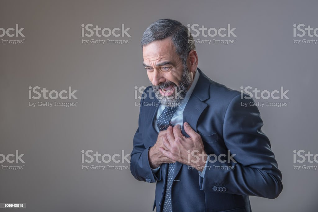Heart ache and chest problems stock photo