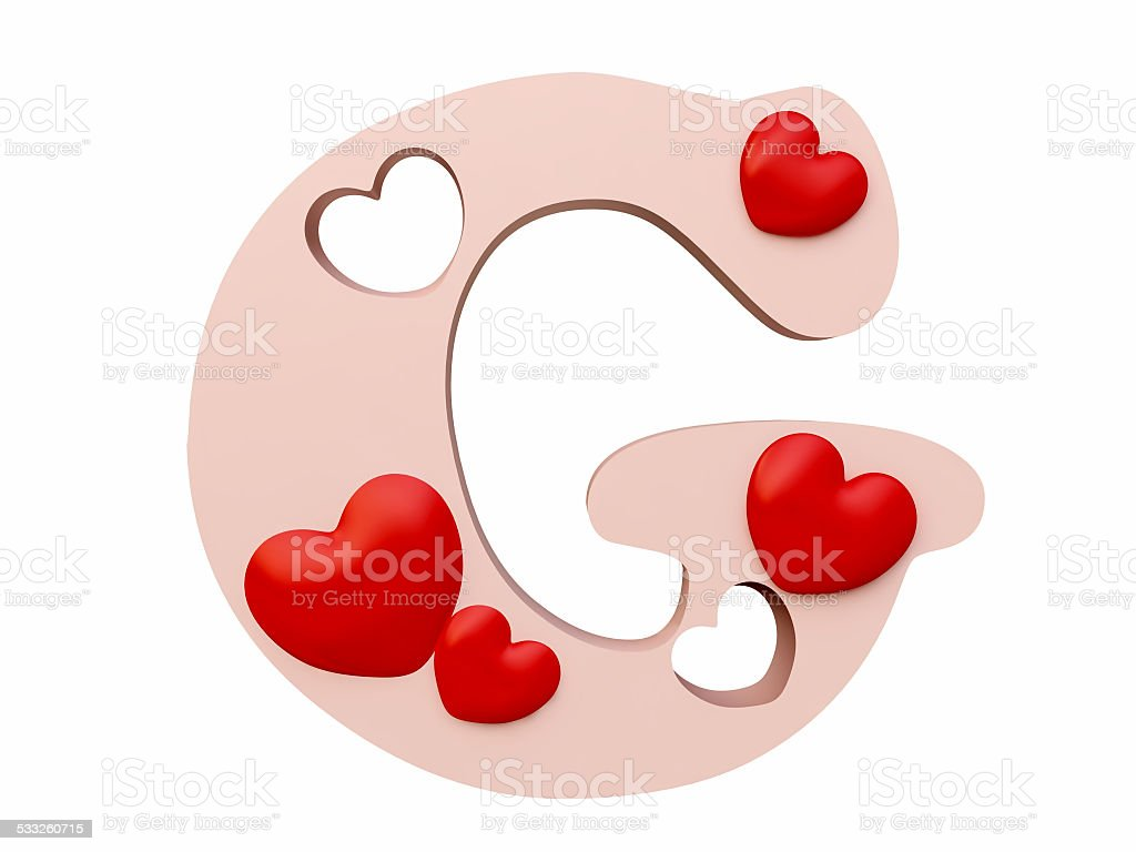 Heart Alphabet Letter G Royalty Free Stock Photo