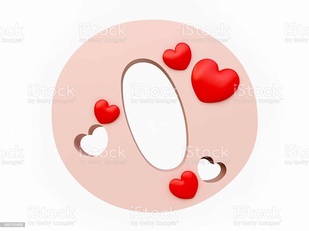 Heart Alphabet Letter O Royalty Free Stock Photo