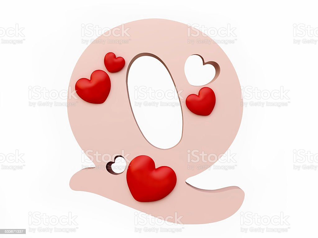 Heart Alphabet Letter Q Stock Photo & More Pictures of 2015 | iStock