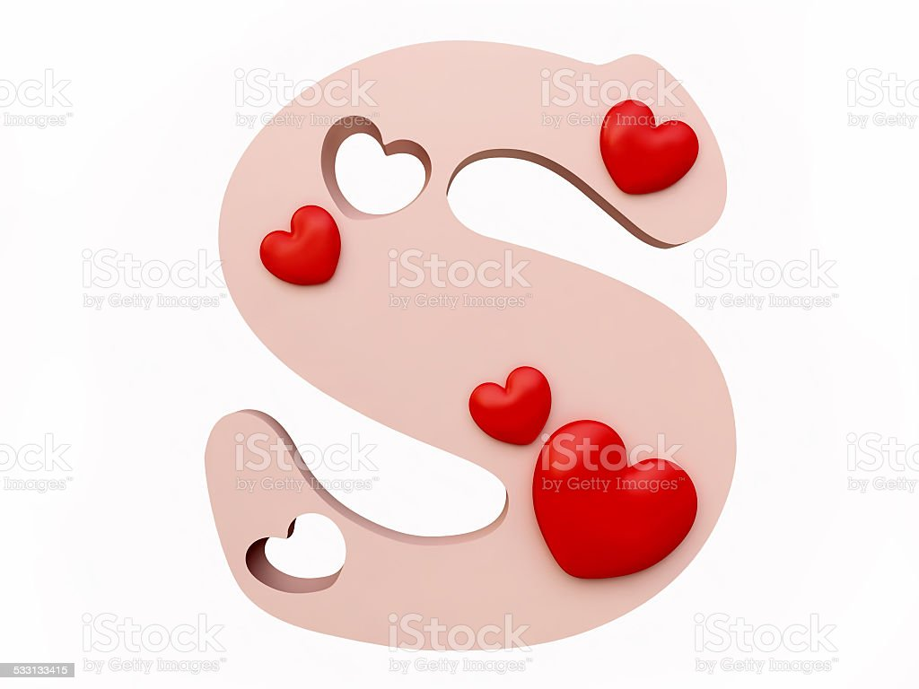 Heart Alphabet Letter S Stock Photo & More Pictures of ... K Alphabet In Heart