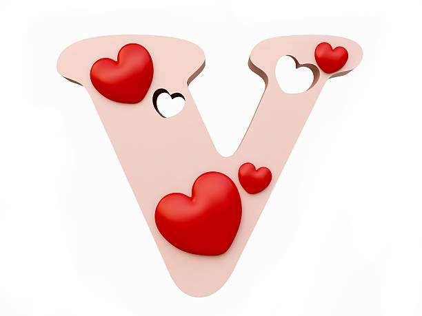 Best Heart Letter V Stock Photos Pictures Royalty Free