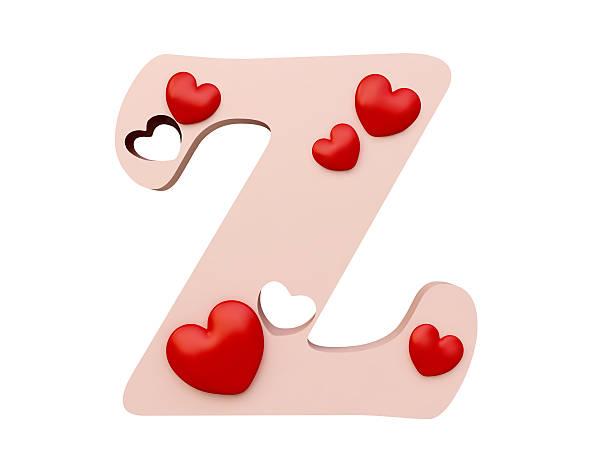 Heart Alphabet, Letter Z stock photo