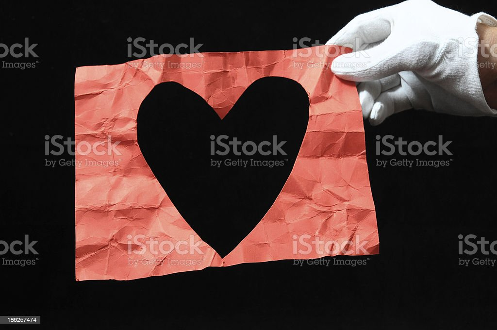 Heart And an Hand royalty-free stock photo